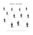 human network connection connecting people in vector image