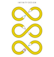 infinity design vector image vector image