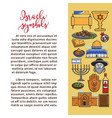 israeli national symbols promo poster with sample vector image