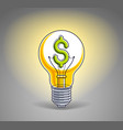 light bulb concept with dollar sign instead of vector image