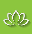 lotus flower icon on green gradient background vector image vector image