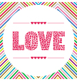 Love letter card5 vector image vector image