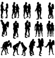 Lovers Silhouettes vector image vector image