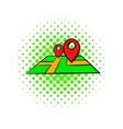 Map comics icon vector image vector image