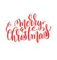 merry christmas hand lettering inscription to vector image vector image