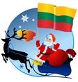 Merry Christmas Lithuania vector image vector image