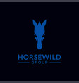 modern and strong horse head logo vector image