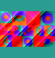 neo memphis geometric pattern with circles vector image vector image