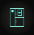 neon smart refrigerator icon in line styles vector image