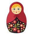 nesting doll with blond hair in maroon kerchief vector image vector image