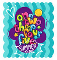 one two three four five summer time vector image