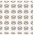 owls seamless pattern 1 vector image vector image