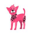 pink dog black spots symbol vector image vector image