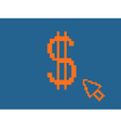 pixelated dollar sign vector image vector image