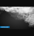 realistic transparent clouds sky panorama vector image vector image