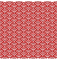 Red and white waves japanese pattern vector image vector image