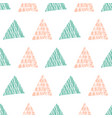 rose and spearmint triangles repeat pattern vector image vector image