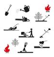 set Gardening icon vector image vector image