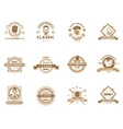 Set of vintage gentleman emblems labels vector image vector image