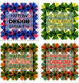 set sketched flower print in bright colors vector image vector image