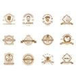 set vintage gentleman emblems labels vector image vector image