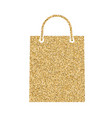 shopping bag icon with glitter effect isolated on vector image vector image