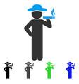 smoking gentleman flat icon vector image