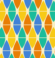 Textile Colorful Geometric Pattern vector image