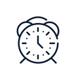 time round alarm clock linear design vector image