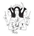 triple lunar goddess hecate ancient greek vector image vector image