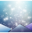 Winter background with snowflakes Abstract winter vector image vector image