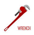 wrench instrument toolcartoon flat style vector image