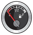 Full gas tank vector image