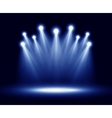 Group of realistic spotlights lighting vector image