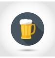 Foamy mug of beer vector image