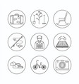 retirement outline icon vector image