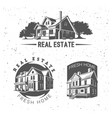 real estate silhouette logotypes vector image