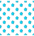 Star shaped flower pattern cartoon style vector image