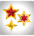 4 gold stars year holiday 3d