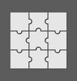 9 puzzle piece jigsaw concept background vector image vector image