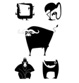 animal silhouettes collection vector image vector image