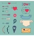 Arrows hearts and other design elements vector image vector image