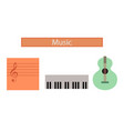 assembly flat icons music lesson vector image
