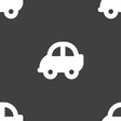 Auto icon sign Seamless pattern on a gray vector image