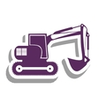 backhoe heavy machinery pictogram icon image vector image vector image