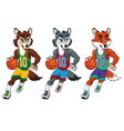 Basketball mascots vector image vector image