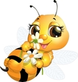 beautiful bee vector image vector image