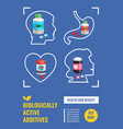 biological active additives poster vector image vector image