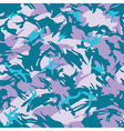 Blue city camouflage seamless pattern vector image
