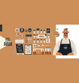burger house - small business graphics -owner vector image vector image
